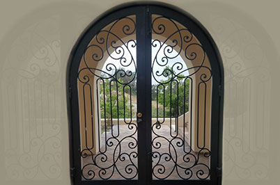 Custom iron work door