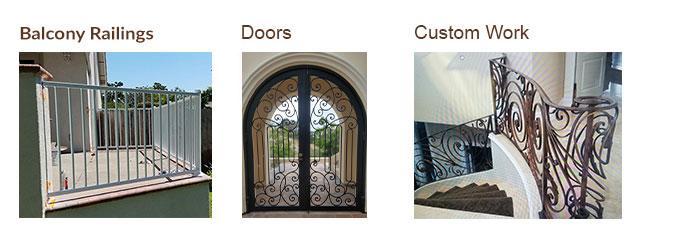iron work services -wrought iron work - door - gate - balcony railing - decorative custom works